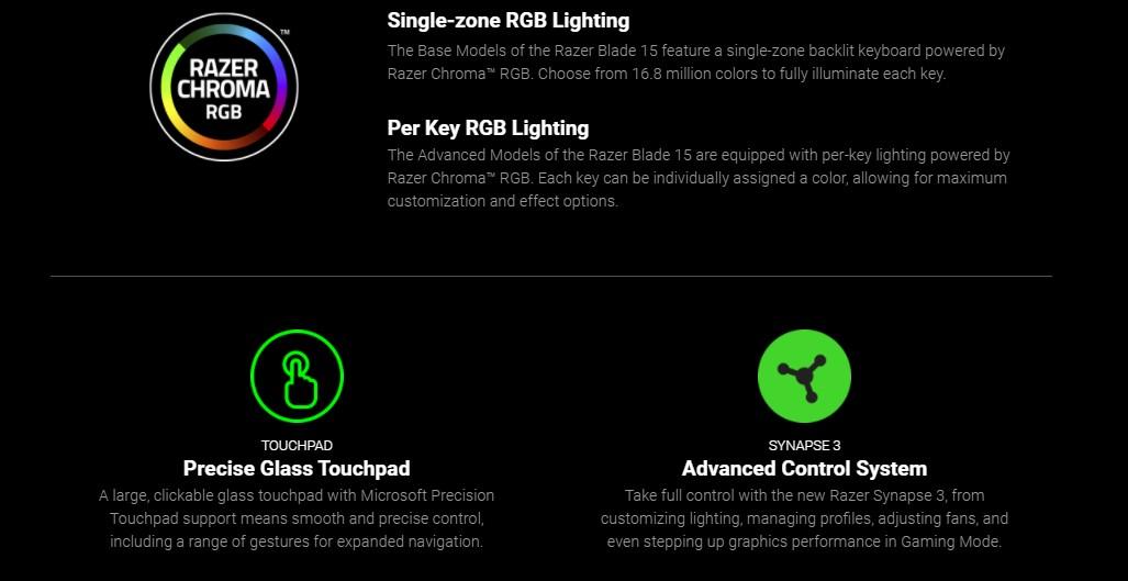 Razer Blade 15 Gaming Laptop Base Model Product Info 7