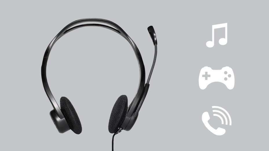 Logitech H370 USB Computer Headset Product Photo 2