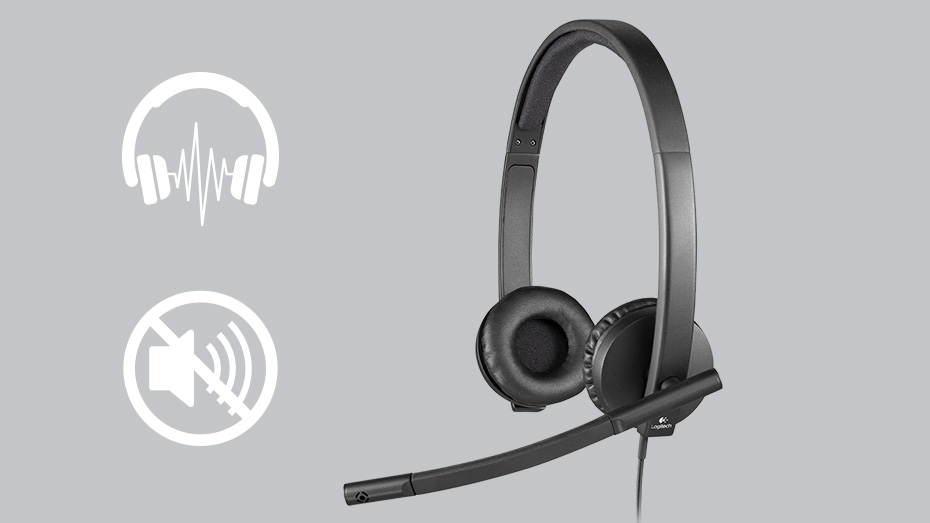 Logitech H570E USB Stereo Headset Product Info 3